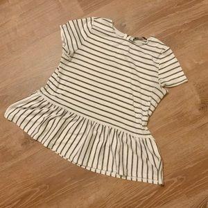 Peplum Style Striped Top